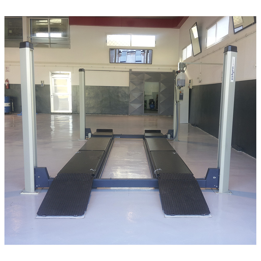 Hydraulic 4-Post Lift 4000 Kg / 5000 KgWith recesses for turning plates and  play detector